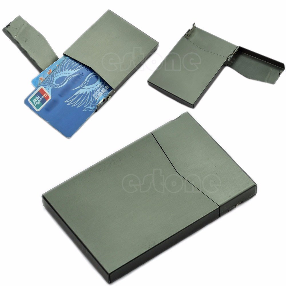 Elegant Pocket Business Name Credit ID Card Case Metal Box Holder Aluminum Alloy
