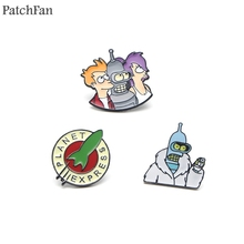 Patchfan Futurama Zinc pins para backpack pride clothes metal medal for bag shirt insignia badges brooches for men women A1143 все цены
