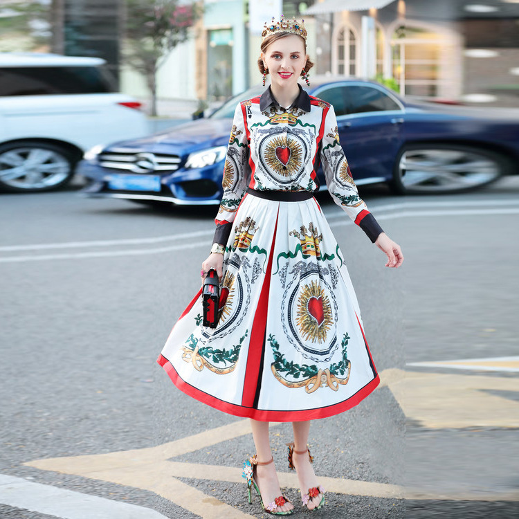 Women Sets Shirt Skirt Suits Two Pieces Blouse Runway Luxury Dress
