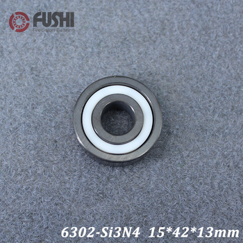 6302 Full Ceramic Bearing ( 1 PC ) 15*42*13 mm Si3N4 Material 6302CE All Silicon Nitride Ceramic Ball Bearings