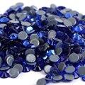Ss6, ss10, ss16, ss20, ss30 Zafiro DMC Hierro En Pedrería De Cristal de Calidad Superior/Hot fix Pedrería de cristal con Un Fuerte Pegamento Gris