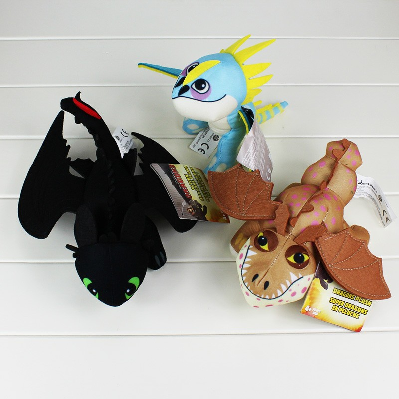 17 27cm 3Styles How To Train Your Dragon 2 Night Fury Toothless Gronckle Deadly Madder Plush