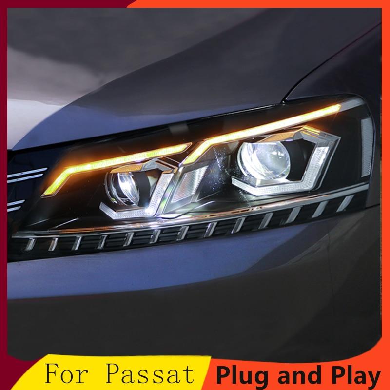 2Pcs LED Headlights For Volkswagen Passat 12 15 led car lights Angel eyes xenon HID KIT