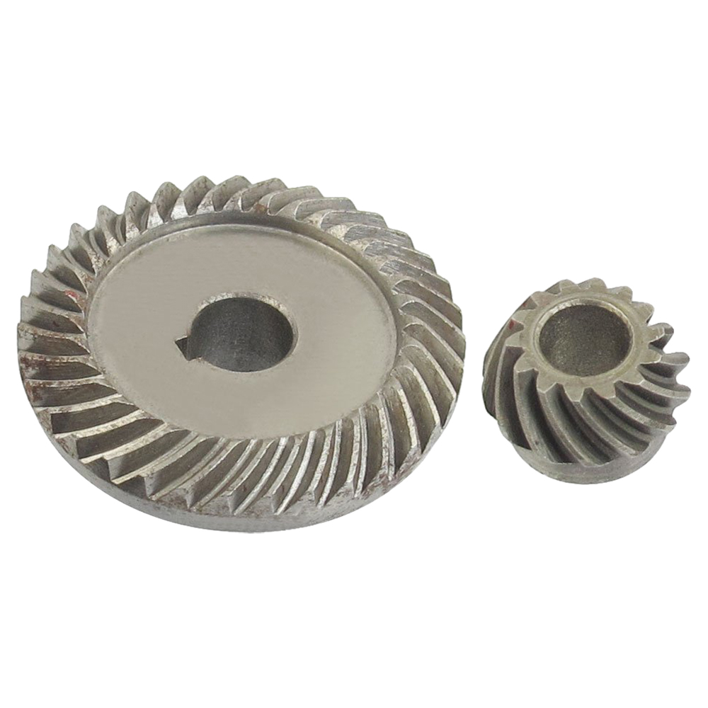EWS-Angle Grinder Spare Part Tapered Bevel Gear Set for LG Silver Metal angle grinder spare part spiral bevel gear set for hitachi 180 angle grinder page 3