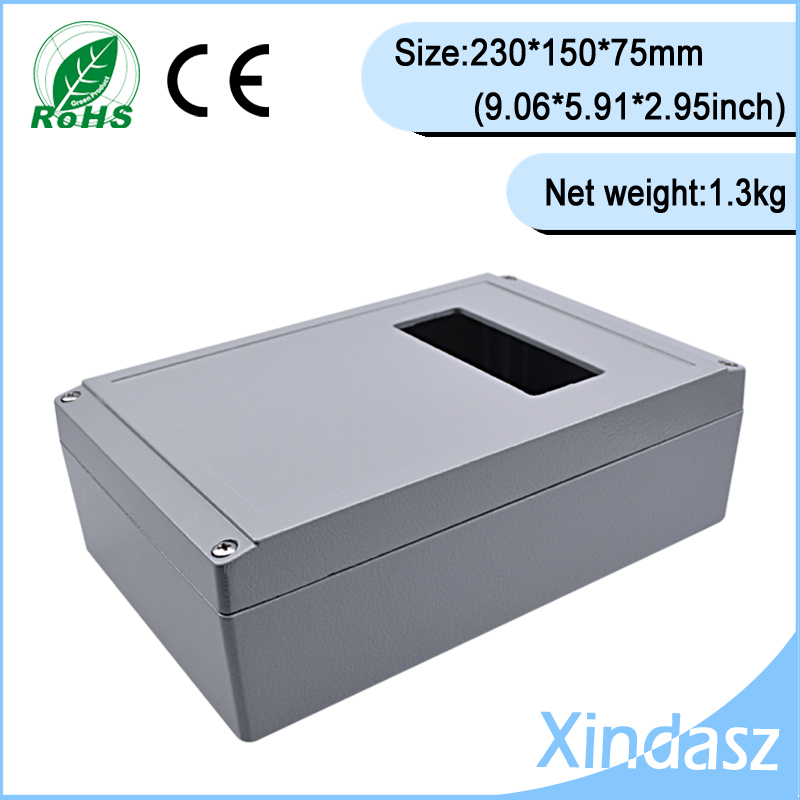 (XD-FA10-1)230*150*75mm(9.06*5.91*2.95inch)High quality guarantee Sealed Diecast Aluminium Enclosure with window high quality 1 75