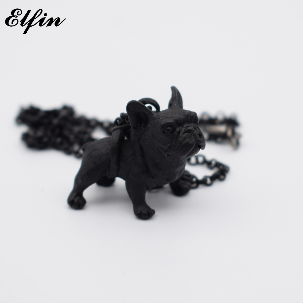 Elfin New Arrival French Bulldog Necklace Fashion Animal French Bulldog Jewellery Pendant Necklace Women Jewellery