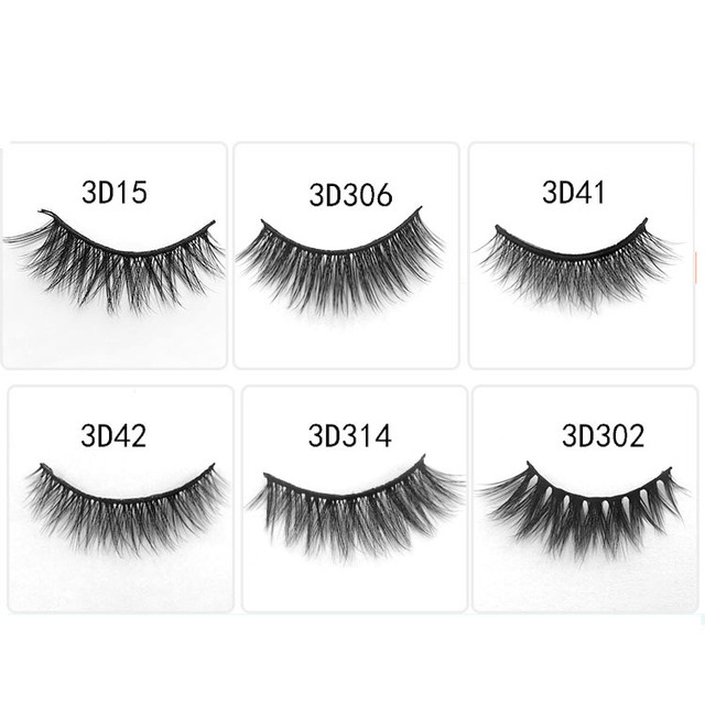 4fbb5c939c6 3D handmand Mink Hair False eyelashes natural long Fake eyelash thick curl  Fashion Black eye lashes nude makeup 1set = 3 pairs