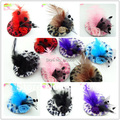 Free Shipping!2015 New Cute Girls Feather Hair Clip Kids Hair Accessories Fascinators Mini Top Hats With Clip Tiaras Leopard Hat