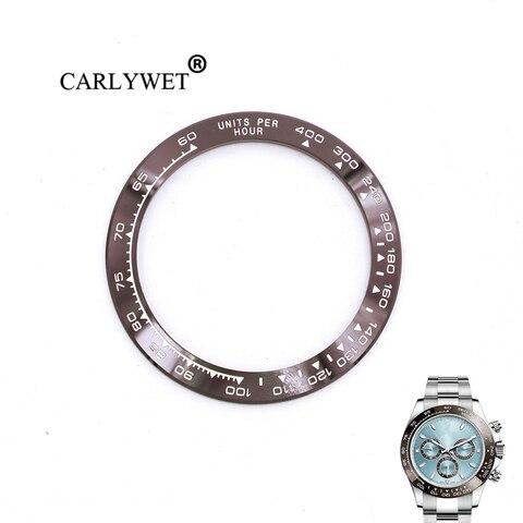 Atacado de Alta Relógio de Cerâmica Marrom com Escrita Moldura para Daytona Carlywet Qualidade Branca 38.6mm 116500-116520 Mod. 129170
