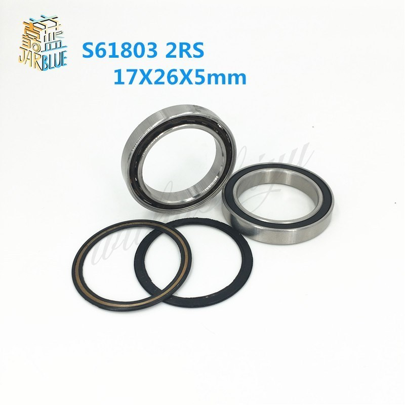 Free Shipping For ZIP404/ AMERICAN CLASSIC 4PCS S61803 2RS CB ABEC5 17X26X5mm Stainless Steel Hybrid Ceramic Bearings/Bike free shipping 4pcs 7x11x3 metal shields hybrid ceramic balls bearings abec 7 stainless steel smr117c rs