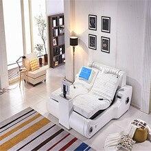 Массажная кровать Современная многофункциональная кровать из натуральной кожи кровать с ТВ