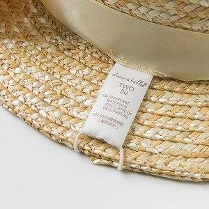 Image 5 - DB10478 dave bella ฤดูร้อนเด็กทารกสีเหลืองโบว์หมวกเด็กแฟชั่นดอกไม้ฟางหมวก