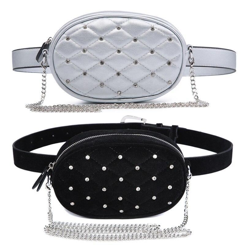 Waist Packs Vintage Rivets Pu Leather Fanny Pack Black Brown Pillow Waist Bag Men Fashion Belt Chest Bag Shoulder Crossbody Rivet Banana Bag Cool In Summer And Warm In Winter