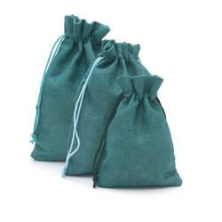 100 шт./лот 13x18 см льняная Джутовая сумка 2018 Новая мода; оптовая продажа; цветные украшения мешки для упаковки ювелирные украшения в подарок