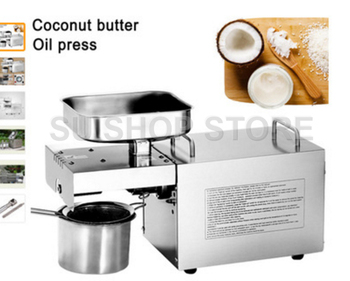 110V/220V Heat and Cold home oil press machine pinenut,  olive oil press machine high oil extraction rate недорого