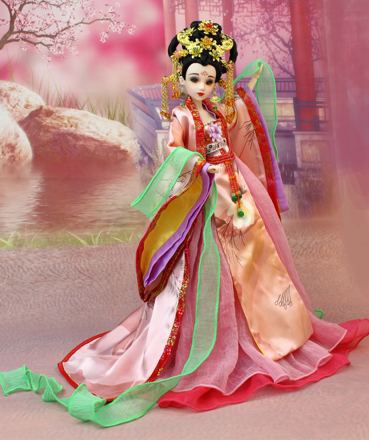 14 Handmade Vintage Chinese Dolls With Stand Collectible Ancient Bjd Dolls Girl Toys Empress Wu Zetian Series Christmas Gifts tang dynasty shangguan wan er 12jointed doll 31cm high end handmade chinese costume dolls limited collection bjd 1 6 moveable
