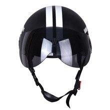 Nueva Motocicleta Media Cara Casco Protector Visort, Hombres/Mujeres Adultas Moto/Moto/Bicicleta Cascos Estrellas Secundarios, la Cara medio Abierto,