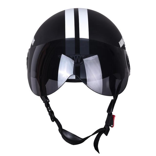 Новая мотоциклетная обувь половина лица защитный шлем Visort, Для мужчин/Для женщин взрослых мотоцикл/велосипед/велосипедные шлемы стороны звезд, половина открытым лицом,