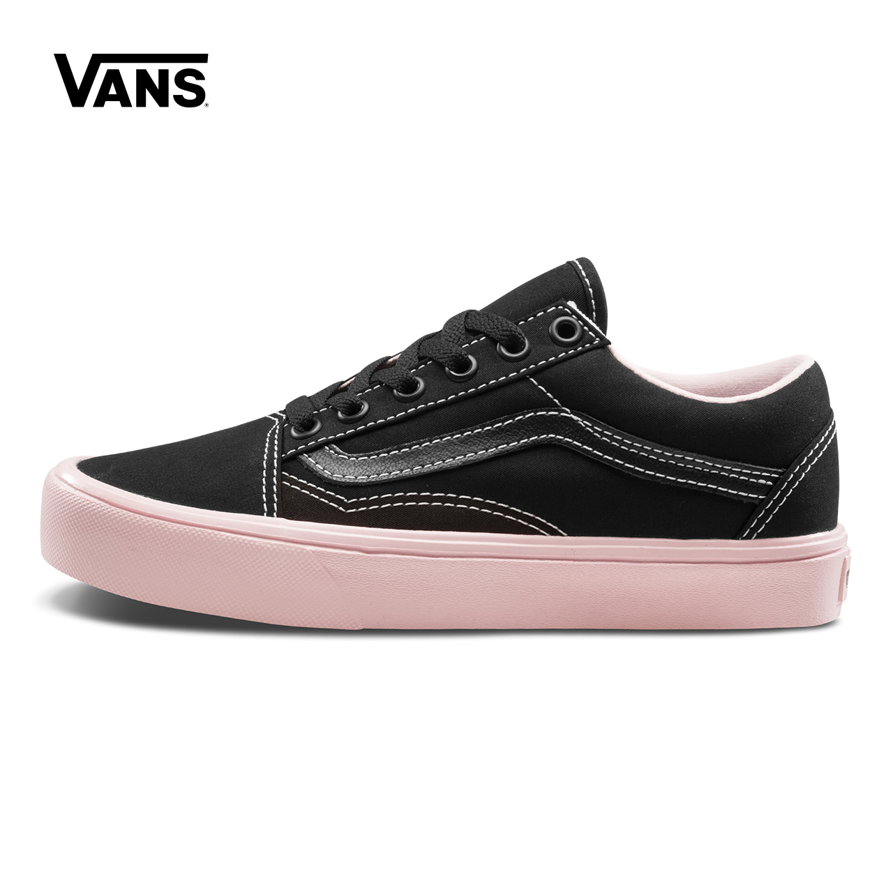 Original Black Pink Vans Sneakers Mens Womens Classic Old Skool Lite Skateboarding Shoes Sneakers Canvas Shoes VN0A2Z5WT1K