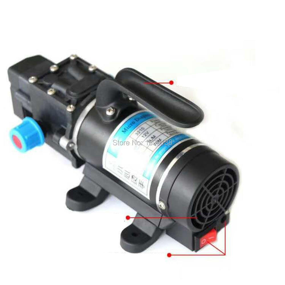 Assessed supplier, 100w 12 volt small electric diaphragm High Pressure self priming dc mini water pump with buit-in fan free shipping dp 150 dc high pressure micro electric small water pump 12 volt