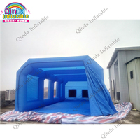 Mobile durable advertising booths paint tent pvc tarpaulin inflatable spray booth with filter system