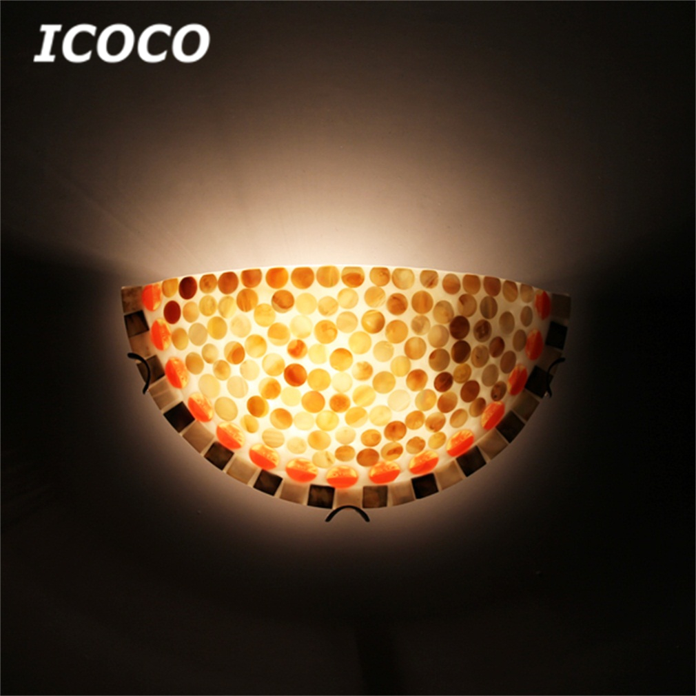 ICOCO High Quality Modern Nature Shell Flush Uplighter Wall Light Sconce Lighting Lamp Wholesale Drop Shipping Promotion Sale