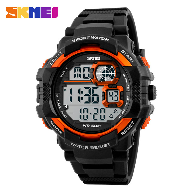 SKMEI Large Digital Wristwatches Men LED Military Shock Watch 50M Waterproof Outdoor Fashion Sports Watches1118