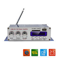 HY 400 Blue 12V 5A Car Digital Display Power Amplifier Support USB SD Card Input With