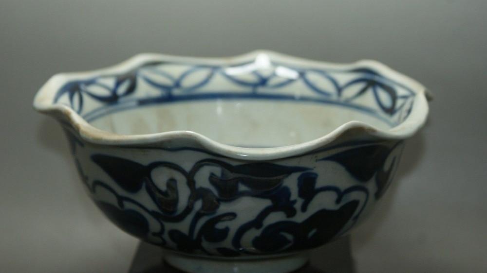 ᐂChina antiguo azul y blanco crackle esmalte porcelana pintada ...