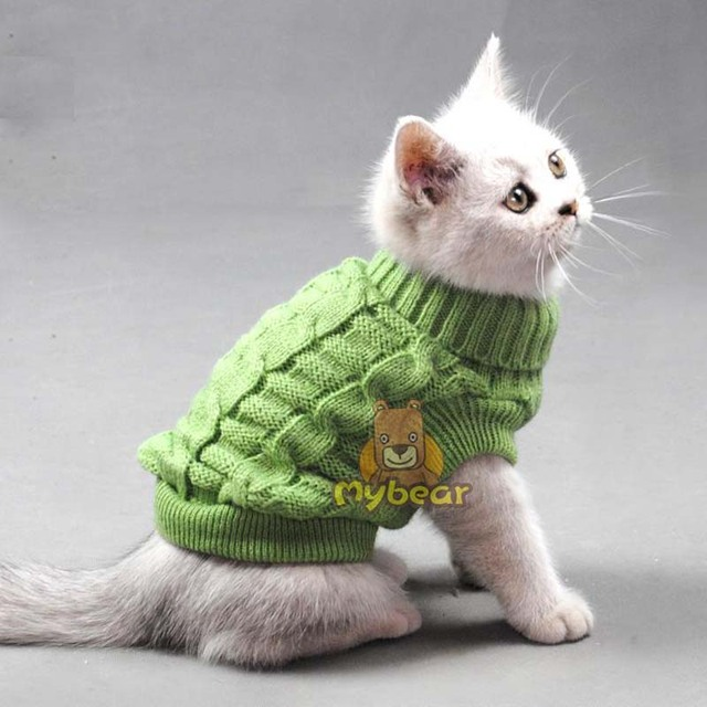 Cute Pet Dog Cat Crochet Knit Sweater Sweatershirt Pullover Spring Small Chihuahua Yorkshire Coat Jacket Cothes For