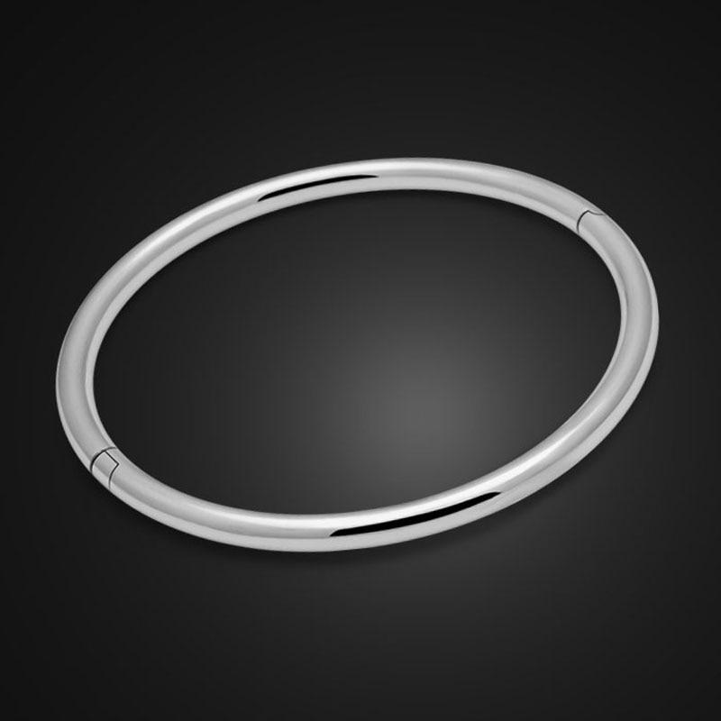 Yasmin Wholesale Silver 925 Jewelry Silver Necklace Solid 925 Sterling Silver Bracelet Single Bangle DIY Parts Silver