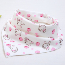 Cute Baby waterproof bib Bandana Bibs Cartoon Animal Print Cotton Newborn Infant Girls Boys Toddler Triangle Scarf