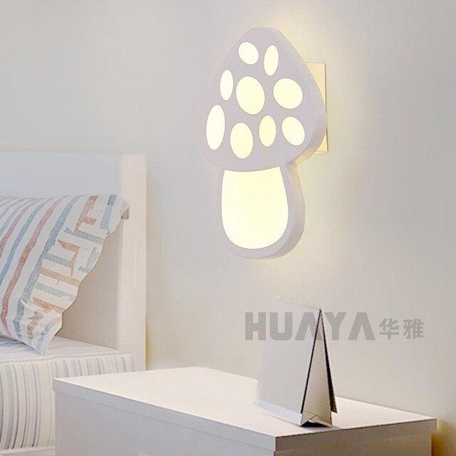 Moderne Minimaliste Enfants De Chambre Led Champignon Mur Lampe