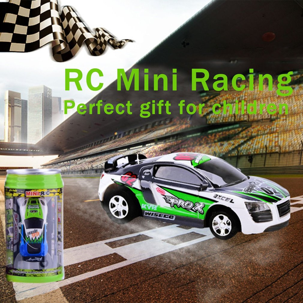 OCDAY RC Toys Car Coke Can Mini Speed RC Radio Remote Control Micro Racing Car Toy Gift New Arrival