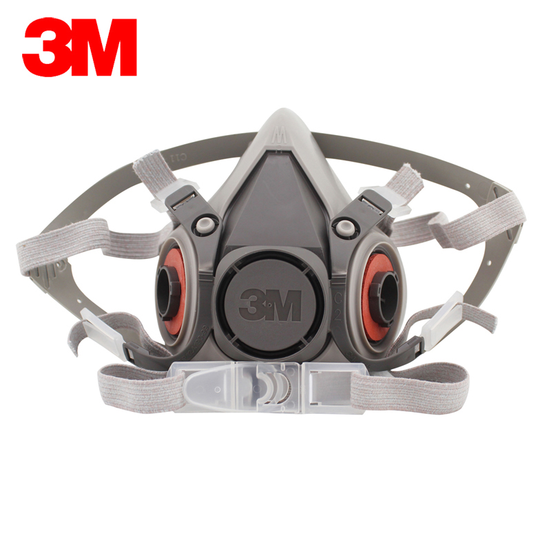 3M 6200 Reusable Half Face Mask Respirator Economical Low-maintenance Simple to Handle Lightweight LT039 protective outdoor war game military skull half face shield mask black