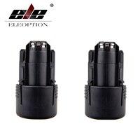 ELEOPTION 2PCS 10.8V 2000mAh Rechargeable Battery Pack Power Tools Li-ion Battery for Bosch 2 607 336 014,2 607 336 864,BAT411