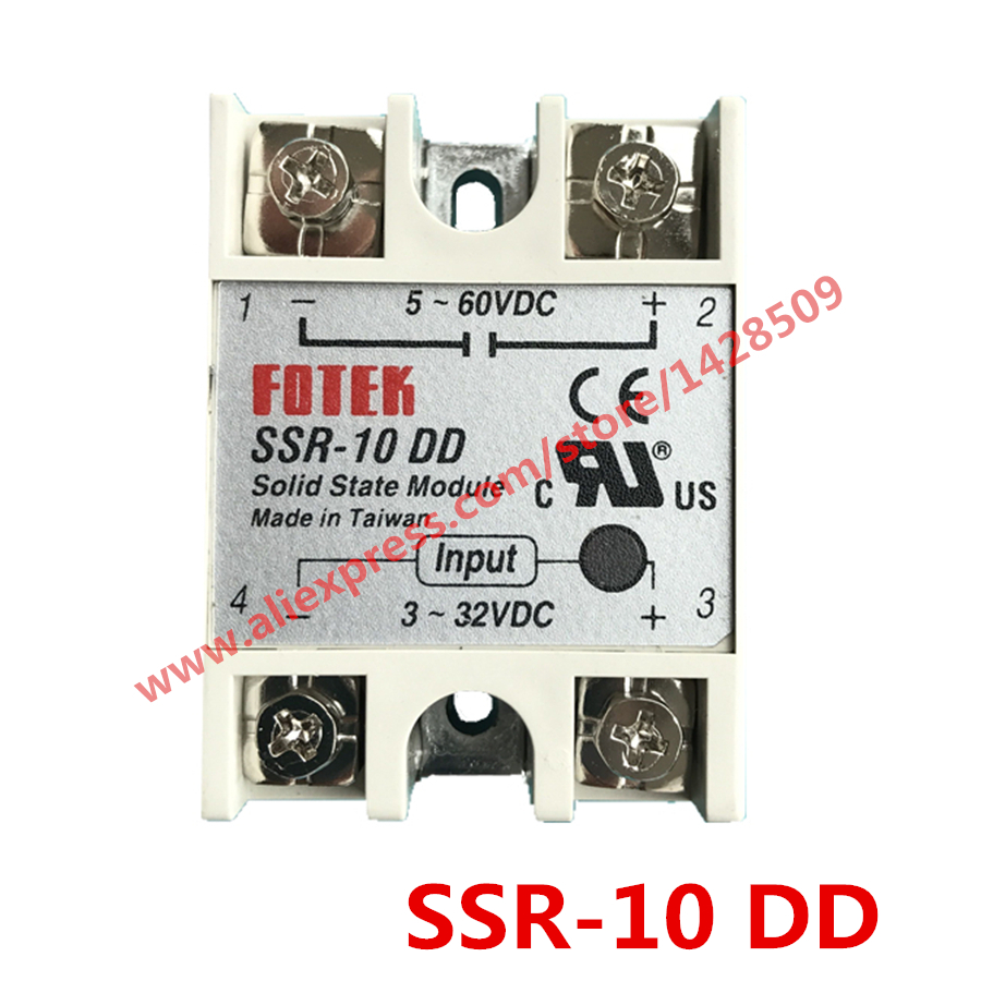 High Quality 1 Piece Solid State Relay SSR DC Control DC SSR-10 DD 3-32V DC To 5-60V DC [vk] mcbc1250cl ssr 50a burst fire control 10v relays