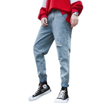 7df79737f42 Moda Streetwear Jeans de hombre Vintage azul gris Color Skinny destruido  rasgado Jeans rotos Punk pantalones Homme Hip Hop Jeans los hombres