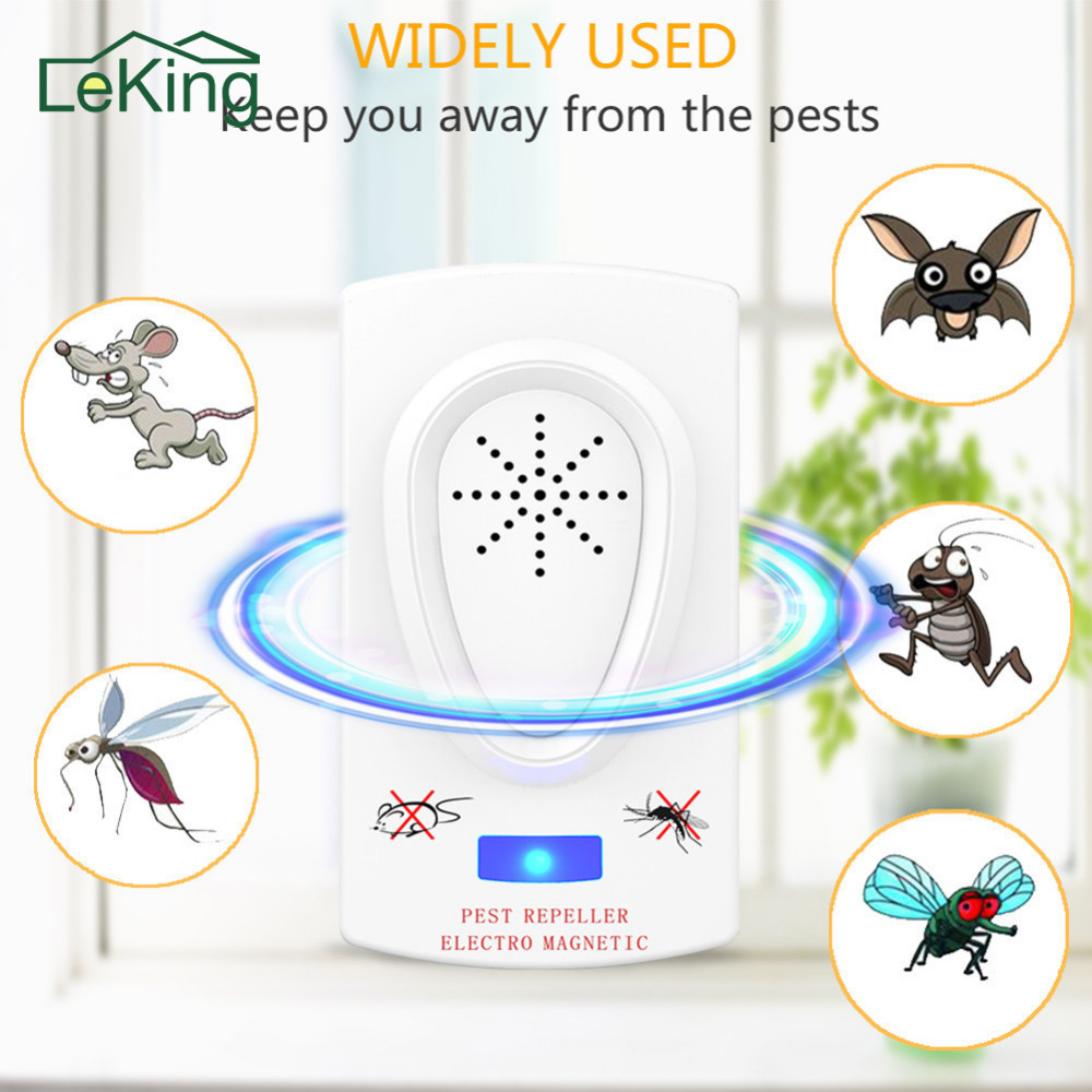 Ultrasound Mouse Cockroach Repeller Device Insect Rats Spiders Mosquito Killer Pest Control Household Pest Rejecter