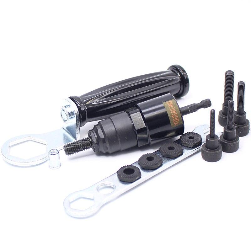M4-M5-M6-M8-M10 Elettrico Rivet Dado Gun Acciaio e Alu Batteria Riveter Inserto Adattatore Dado Cordless Drill Adattatore Rivettatura Tools