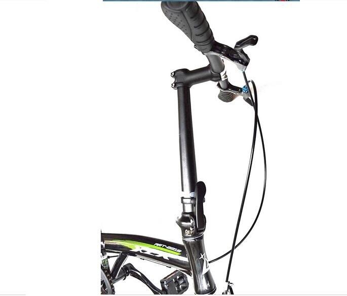 Opvouwbare fietsen fiets stuurpen riser 28.6*25.4*420mm alloy 6061 fiets accessoire toseek Aluminium zwart wit - 6