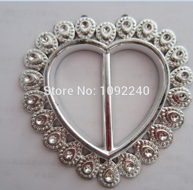 Free shipping HEART SHAPE plastic buckle(100pcs/lot) for wedding cover chair spandex decoration/buckles for band and sash