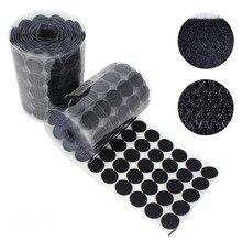 100 пар белый и черный 10/15/20/25 мм нейлон круглая слипчивый висит коврик дозирования крепежная лента процесс шитья