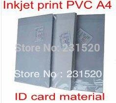 ID-kaardi valmistamise materjalid Tühi Inkjet print PVC-lehed A4 100sets valge värv 0,76mm paks: 0,15 mm + 0,46 mm + 0,15 mm
