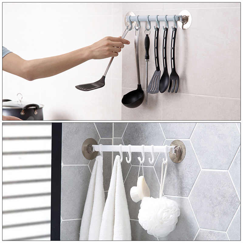 6 filas pares de ganchos gancho con adhesivo fuerte para colgar en la pared de la cocina, creativo baño sin clavos perchero sin costuras ganchos estantes