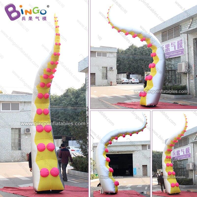 Tentacule de pieuvre gonflable argenté fait sur commande de 3-5 mètres/grand tentacule de pieuvre gonflable pour des jouets de décoration