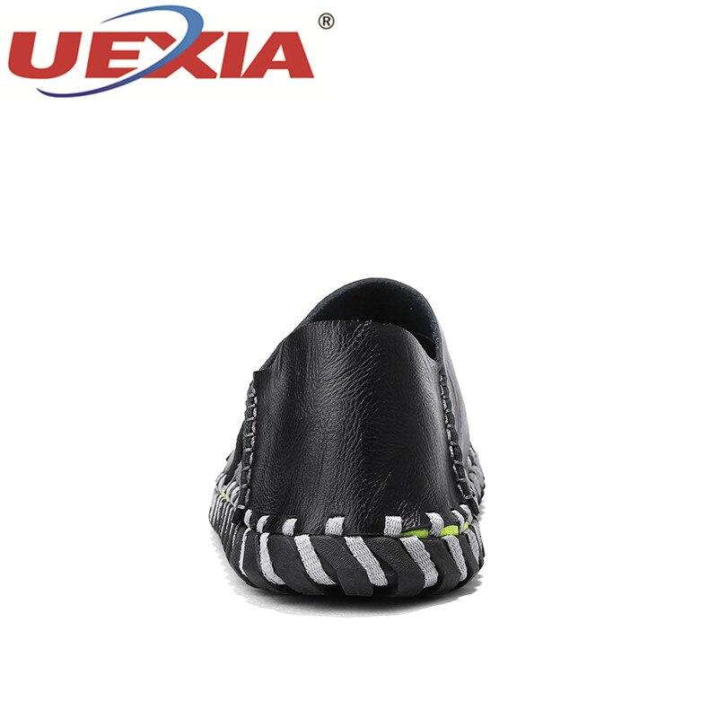 UEXIA ручной работы 2018 новый летний мода ретро пляжная обувь дизайнеры Для мужчин дышащая Разделение кожаные сандалии для Для мужчин слипоны ...