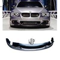 For BMW Car Styling 3 series E92 front Lip AK style carbon fiber front bumper diffuser lip AK type Modification kits 2005 2012