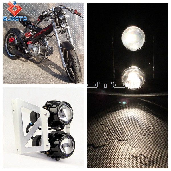 Motorcycle Headlight Assembly : Motorcycle streetfighter headlight projector assembly lamp