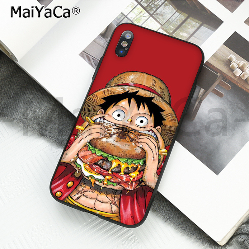 , MaiYaCa Luxury phone Accessories ONE PIECE Phone Case Japanese Anime for iPhone 6S 6plus 7 7plus 8 8Plus X Xs MAX 5 5S XR